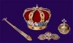 Регалии королевского дома Югославии (корона, скипетр, держава, пряжка мантии)