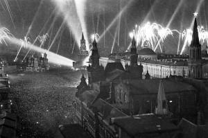 Салют Победы над Москвой. Красная площадь, 9 мая 1945 года