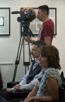Писатели Наталья Иртенина и Сергей В. Алексеев. И журналист с канала Москва24