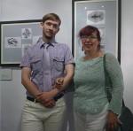 Художник Михаил М. Тренихин с мамой, художником Татьяной Борисовой, по чьему примеру увлёкся книжной графикой