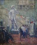 Лев Ильич Аронов (1909—1972). Музей изобразительных искусств, 1940, Холст, масло, 69х58.5. Из собрания семьи художника