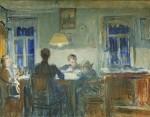 Лев Ильич Аронов (1909—1972). Семья, 1940е, Холст, масло, 63.5х80. Из собрания семьи художника