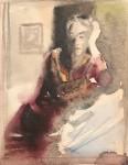 Лев Ильич Аронов (1909—1972). Портрет жены (вариант), 1933 бумага, акварель, 27х20. Из собрания семьи художника