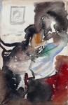 Лев Ильич Аронов (1909—1972). Портрет жены (вариант) 1933 бумага, акварель, 27х20. Из собрания семьи художника