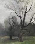 Михаил Владимирович Добросердов (1906—1986). В лесу. 1937. холст масло. 58х38. Из собрания семьи художника