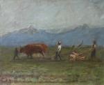 Михаил Владимирович Добросердов (1906—1986). Весна в Киргизии. 1936. 43х53. Холст, масло. Из собрания семьи художника
