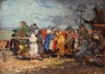 Михаил Владимирович Добросердов (1906—1986). Собрание. Начало 1940-х. 25х18. Картон, масло. Из собрания семьи художника