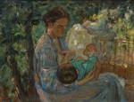 Лев Ильич Аронов (1909—1972). Материнство, 1938, Холст, масло, 62х80. Из собрания семьи художника