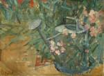 Лев Ильич Аронов (1909—1972). Уголок сада, 1939, Холст, масло, 36.5х48. Из собрания семьи художника