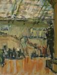 Лев Ильич Аронов (1909—1972). Интерьер вестибюля Музея изобразительных искусств, 1940, картон, масло, 28.5х22. Из собрания семьи художника