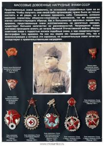 Планшет «Массовые довоенные нагрудные знаки СССР 1930-х годов»
