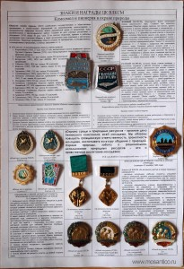 Планшет Знаки ЦК ВЛКСМ за успехи в охране окружающей среды
