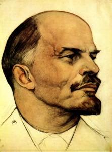 Н. А. Андреев. В. И. Ленин. Рисунок. Сангина, итальянский карандаш, пастель. 1930 — 1932
