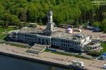 Северный речной вокзал. Вид с вертолёта. Автор: Сергей Аблогин