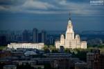 Гостиница «Украина». Вид с вертолёта. Автор: Сергей Аблогин