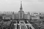 Главное здание МГУ им. М.В. Ломоносова. Вид с вертолёта. Автор: Сергей Аблогин